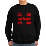 It Is What It Is Sweatshirt (dark)