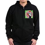 Have a Very Guinea Christmas! Zip Hoodie (dark)
