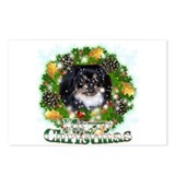 Merry Christmas Pekingnese Black Postcards (Packag