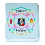 Future Firefighter Pastel baby blanket
