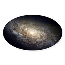 NGC 4414 Spiral Galaxy Oval Decal
