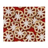 Rosette Christmas Cookies Throw Blanket