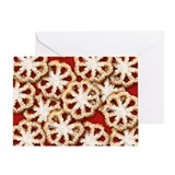 Rosette Christmas Cookies Greeting Card