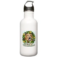 Merry Christmas Golden Retriever 2 Water Bottle