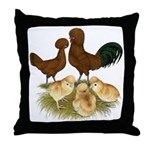 Red Polish Chickens Throw Pillow