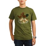 Red Polish Chickens Organic Men's T-Shirt (dark)