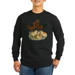 Red Polish Chickens Long Sleeve Dark T-Shirt
