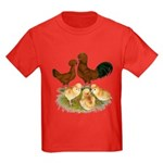 Red Polish Chickens Kids Dark T-Shirt