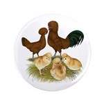 "Red Polish Chickens 3.5"" Button (100 pack)"