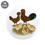 "Red Polish Chickens 3.5"" Button (10 pack)"