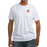 I LOVE Monhegan Fitted T-Shirt