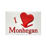 I LOVE Monhegan Rectangle Magnet (10 pack)