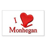 I LOVE Monhegan Rectangle Sticker