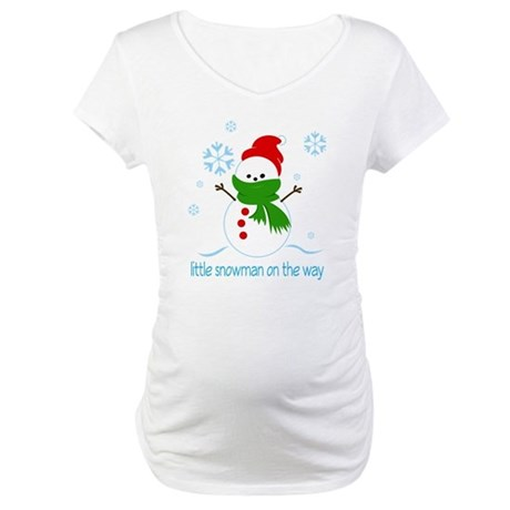 Gifts gt; Christmas Womens gt; Cute Snowman Maternity Christmas Tee Shirt