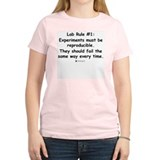 Experiment must be reproducib Women's Pink T-Shirt