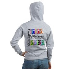 Awareness Matters Ribbons Zip Hoodie