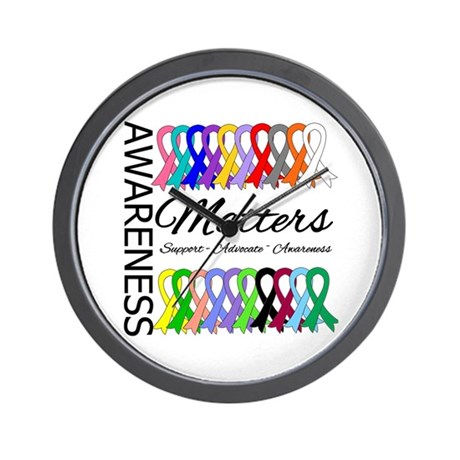 Awareness Matters Ribbons Wall Clock
