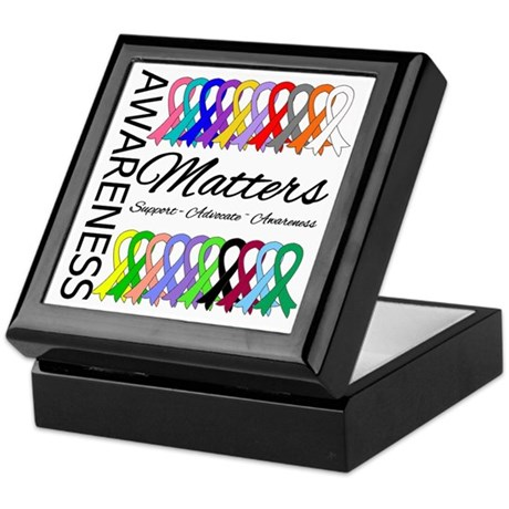 Awareness Matters Ribbons Keepsake Box