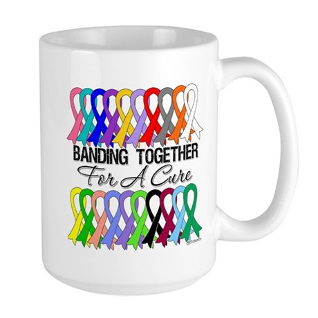 Banding Together For A Cure Large Mug