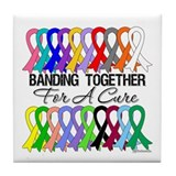 Banding Together For A Cure Tile Coaster