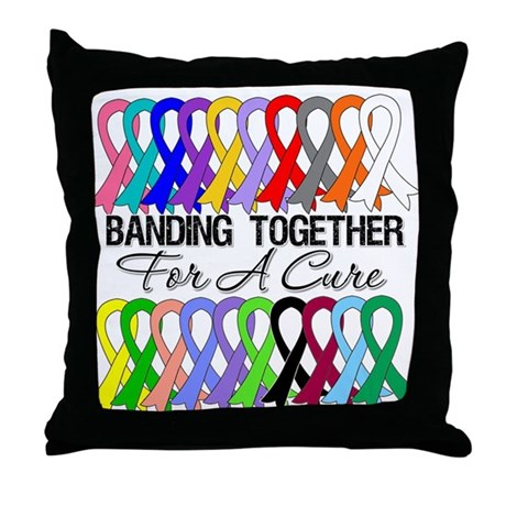 Banding Together For A Cure Throw Pillow