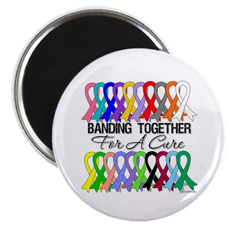 Banding Together For A Cure Magnet