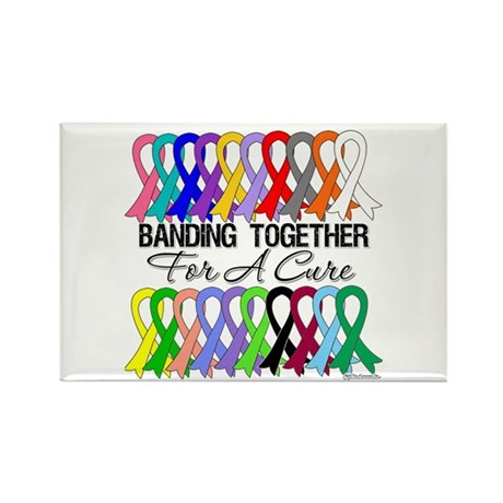 Banding Together For A Cure Rectangle Magnet (100