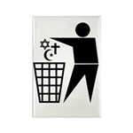 Trash Religion Rectangle Magnet (10 pack)