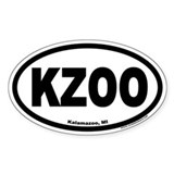 Kalamazoo Michigan KZOO Euro Oval Bumper Stickers