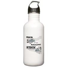 Proud Dad of an Autistic Son Water Bottle