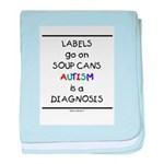 Autism ~ Labels go on soup cans baby blanket