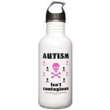 Autism isn't contagious Water Bottle