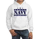 Proud Navy Grandpa Jumper Hoody