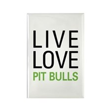 Live Love Pit Bulls Rectangle Magnet (10 pack)