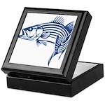 Graphic Striped Bass Keepsake Box