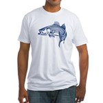 Graphic Striped Bass Fitted T-Shirt