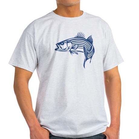 Graphic Striped Bass Light T-Shirt