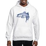 Graphic Striped Bass Hooded Sweatshirt