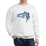 Graphic Striped Bass  Sweatshirt