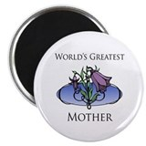 "World's Greatest Mother (Floral) 2.25"" Magnet (100"