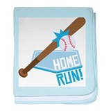 Baseball Home Run! baby blanket