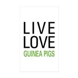 Live Love Guinea Pigs Decal