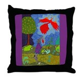 Prince Ivan & the Firebird Throw Pillow