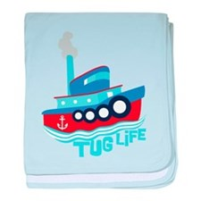 Tug Life baby blanket