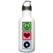 Peace Love Vinyl Water Bottle
