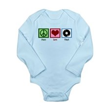 Peace Love Vinyl Long Sleeve Infant Bodysuit