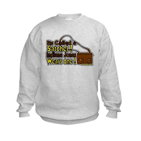 its a satchel! Kids Sweatshirt
