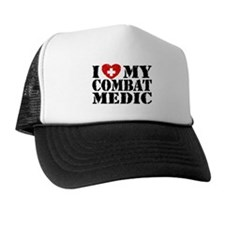 I Love My Combat Medic Trucker Hat