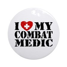 I Love My Combat Medic Ornament (Round)