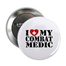 "I Love My Combat Medic 2.25"" Button"